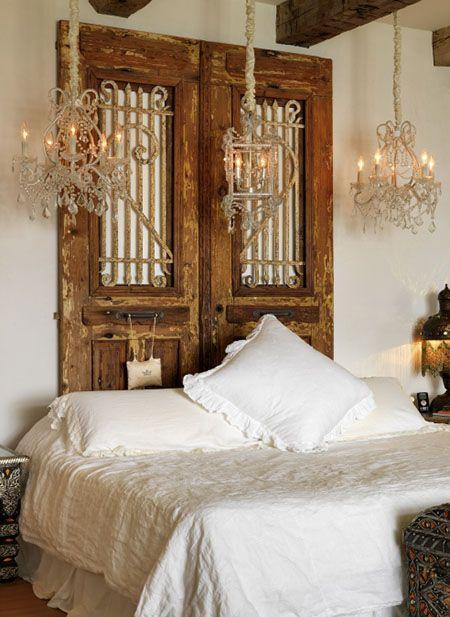 Reciclar reutilizar y reducir fabulosos cabeceros hechos con puertas viejas - Cabeceros artesanales ...