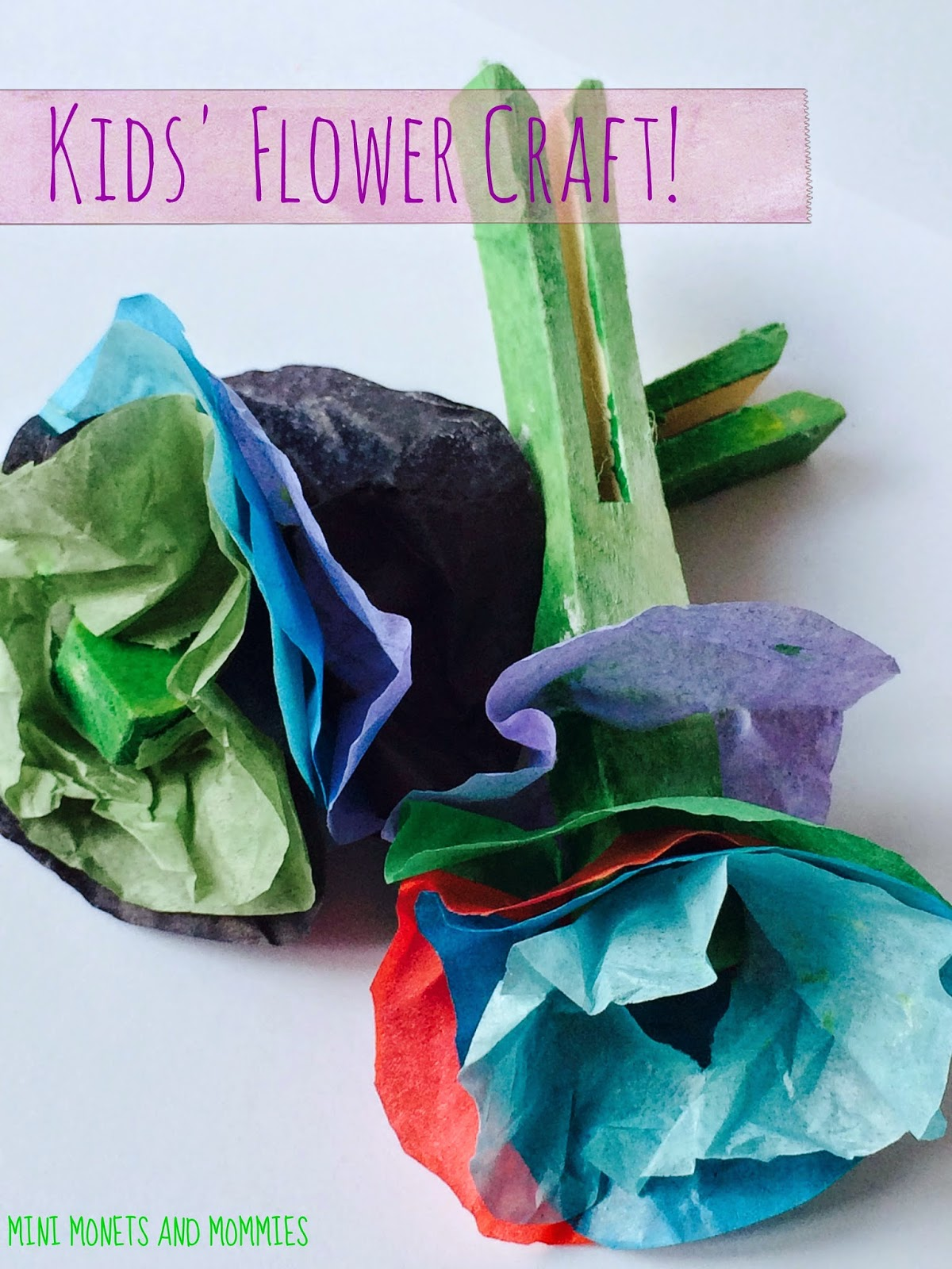 Mini Monets And Mommies Spring Flower Art Activity For Kids