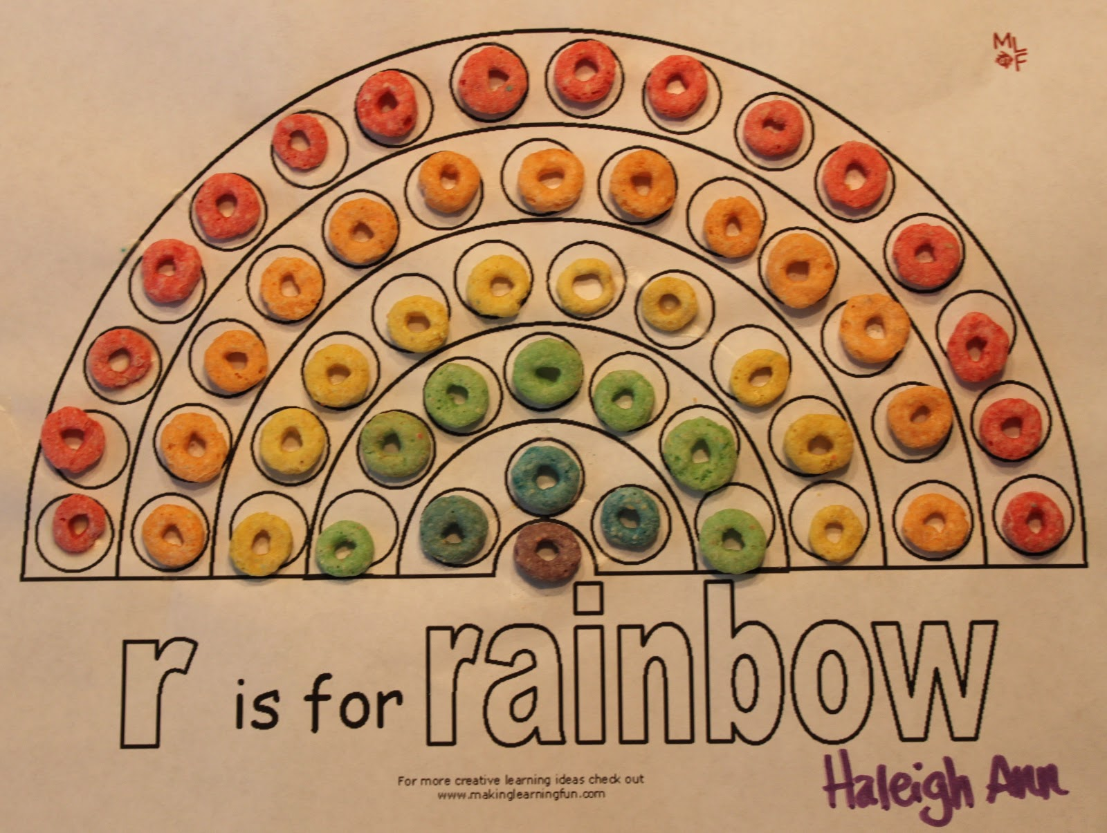 Genius image for fruit loop rainbow printable template