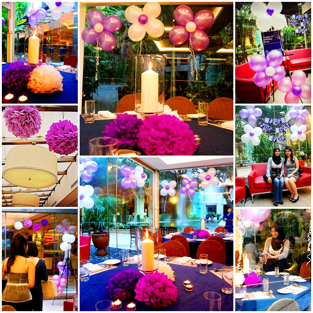 Tres chic the party planner evon 39 s 21st bday lemon for Terrace party decoration