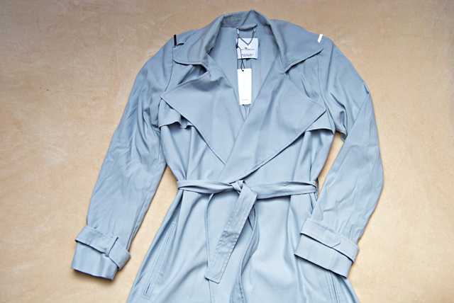 mango baby blue trench coat