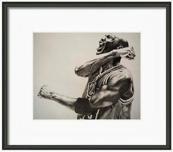 Michael Jordan Framed Print
