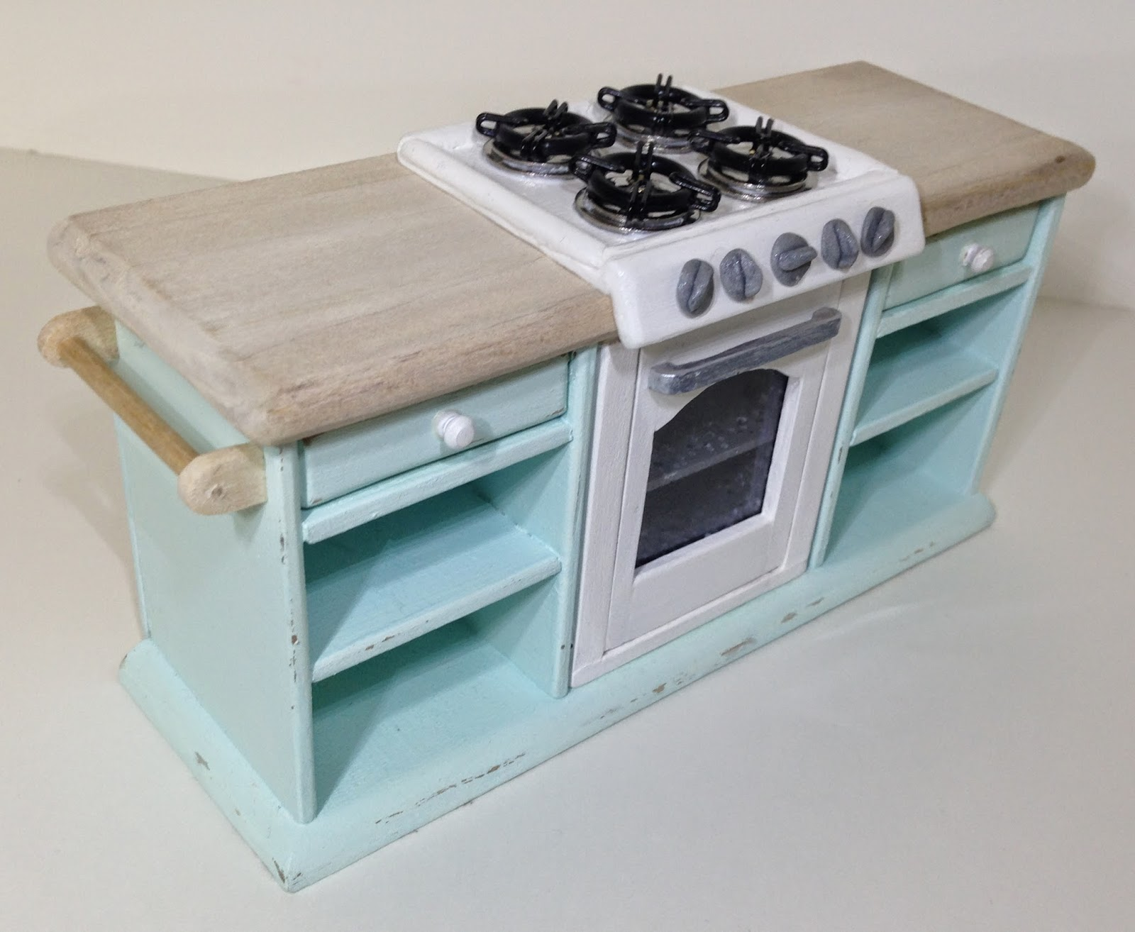 Once Upon A Doll Collection : Shabby Chic Kitchen, Dollhouse Part 5