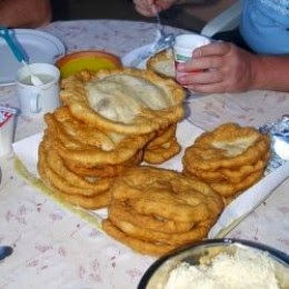 hungarian langos traditional food