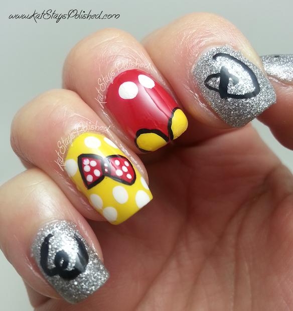 disney world inspired nail art