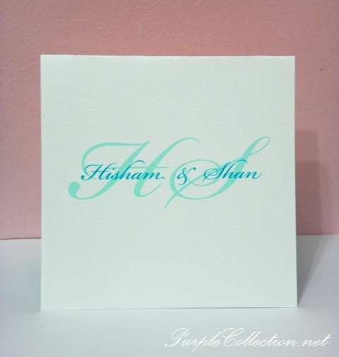 Square Plain Blue & White Wedding Card, Square, Plain, Blue, White, Wedding