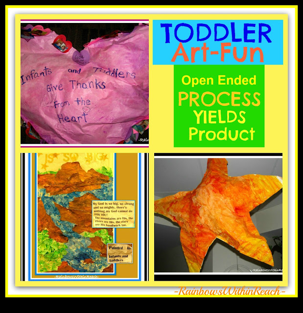 "photo of: Toddler ""Process"" Open-Ended Art: Transformed into ""Product"""