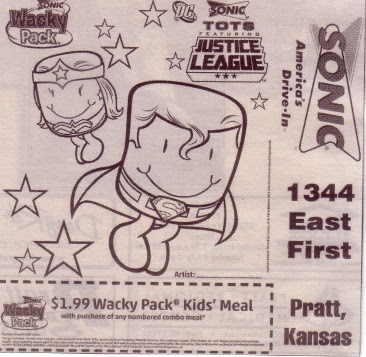 Sonic Tots featuring Justice League ad