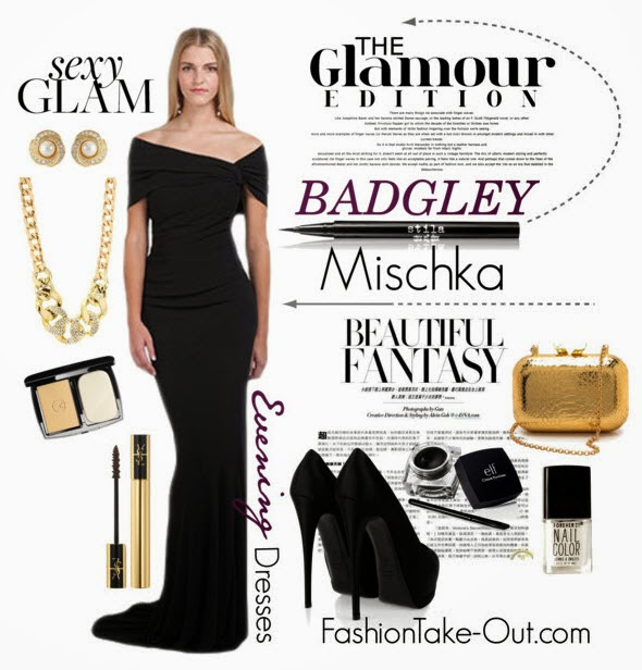 a glamorous look badgley mischka designer evening dresses