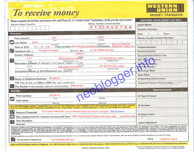 how to load a western union money order machine