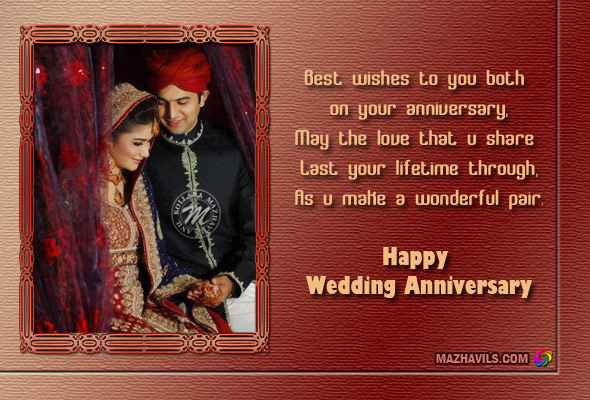 Best wishes to you both on your anniversary, May the love that u share