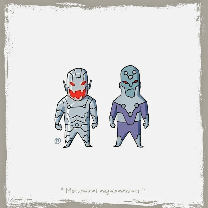 Ultron and Braniac with their shining armours.