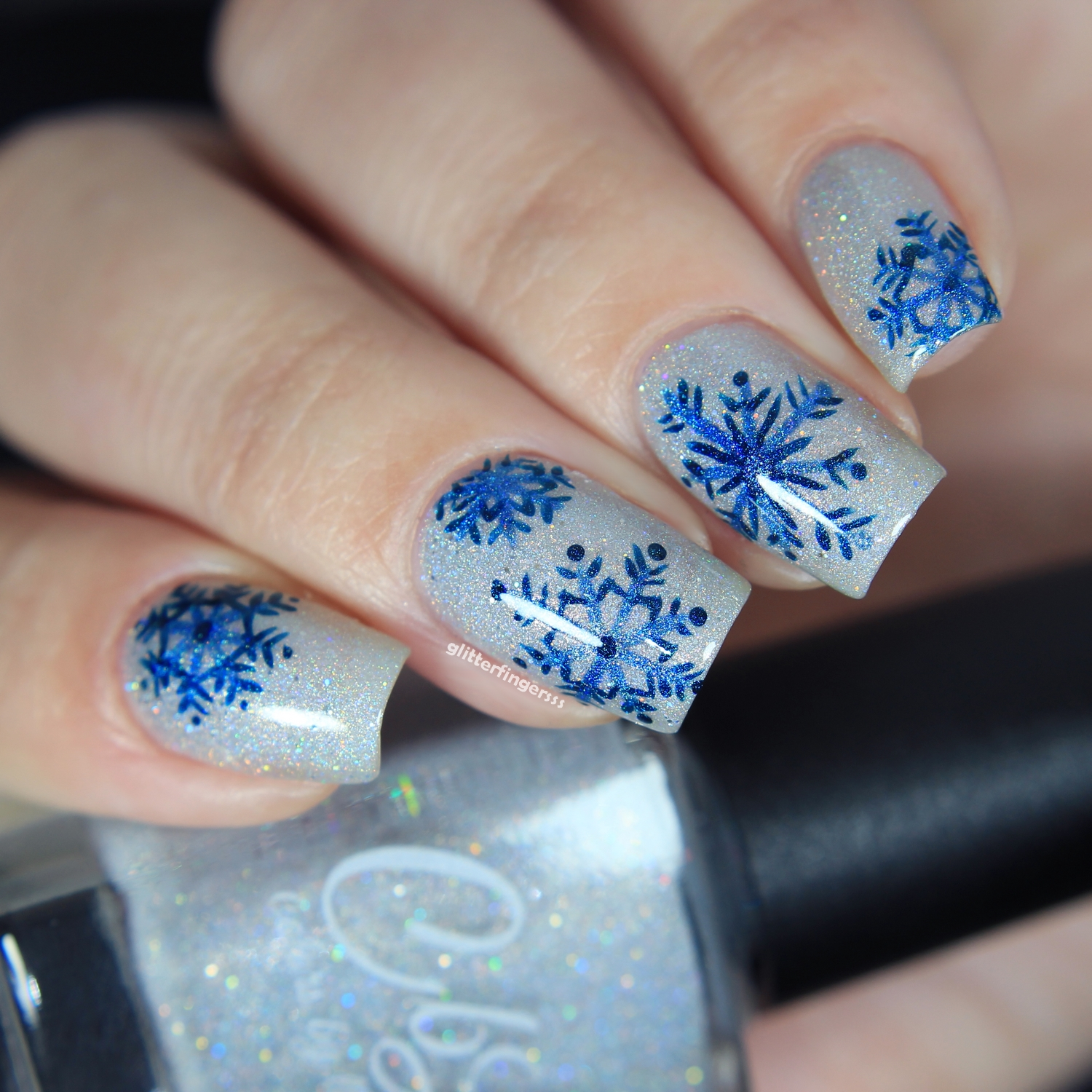 Nail Art | Winter Vibes ~ Glitterfingersss in english