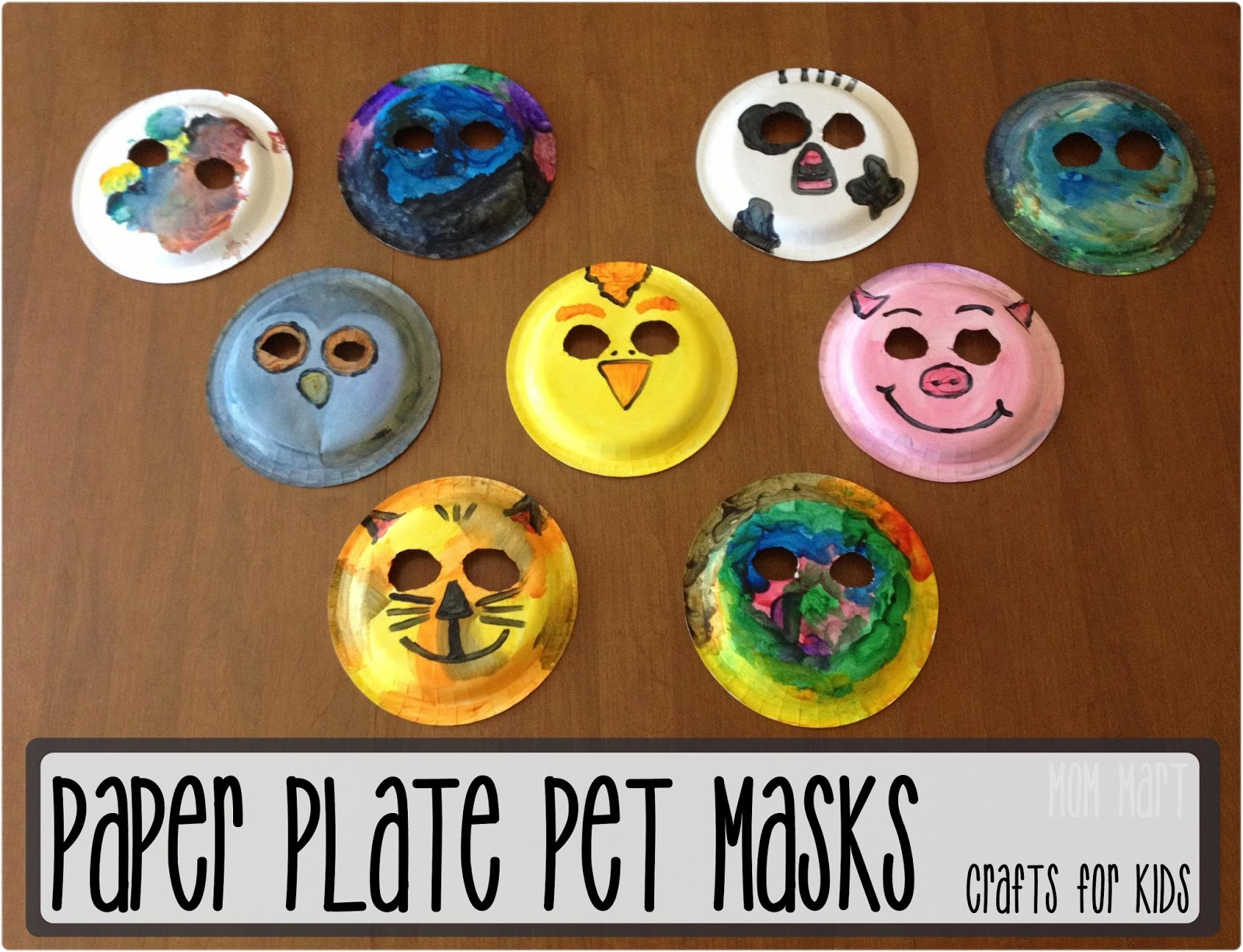 Mom Mart: Paper Plate Animal Masks #CraftForKids