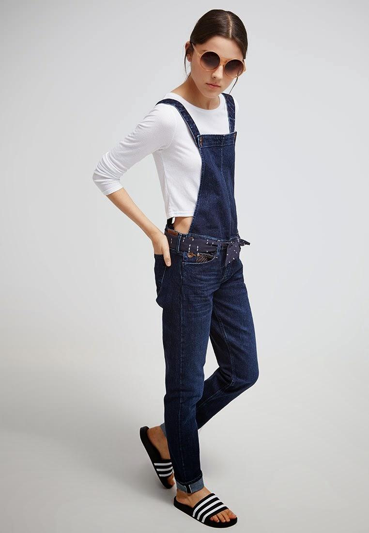 Salopette in jeans for Zalando pellicce