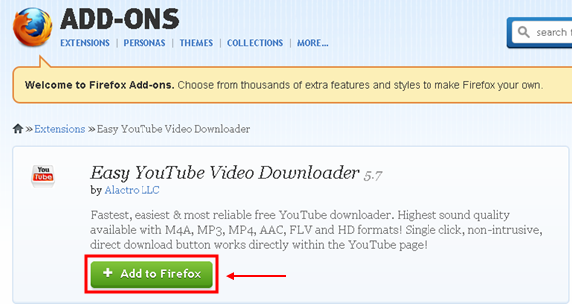 Add On Easy Youtube Video Downloader Express