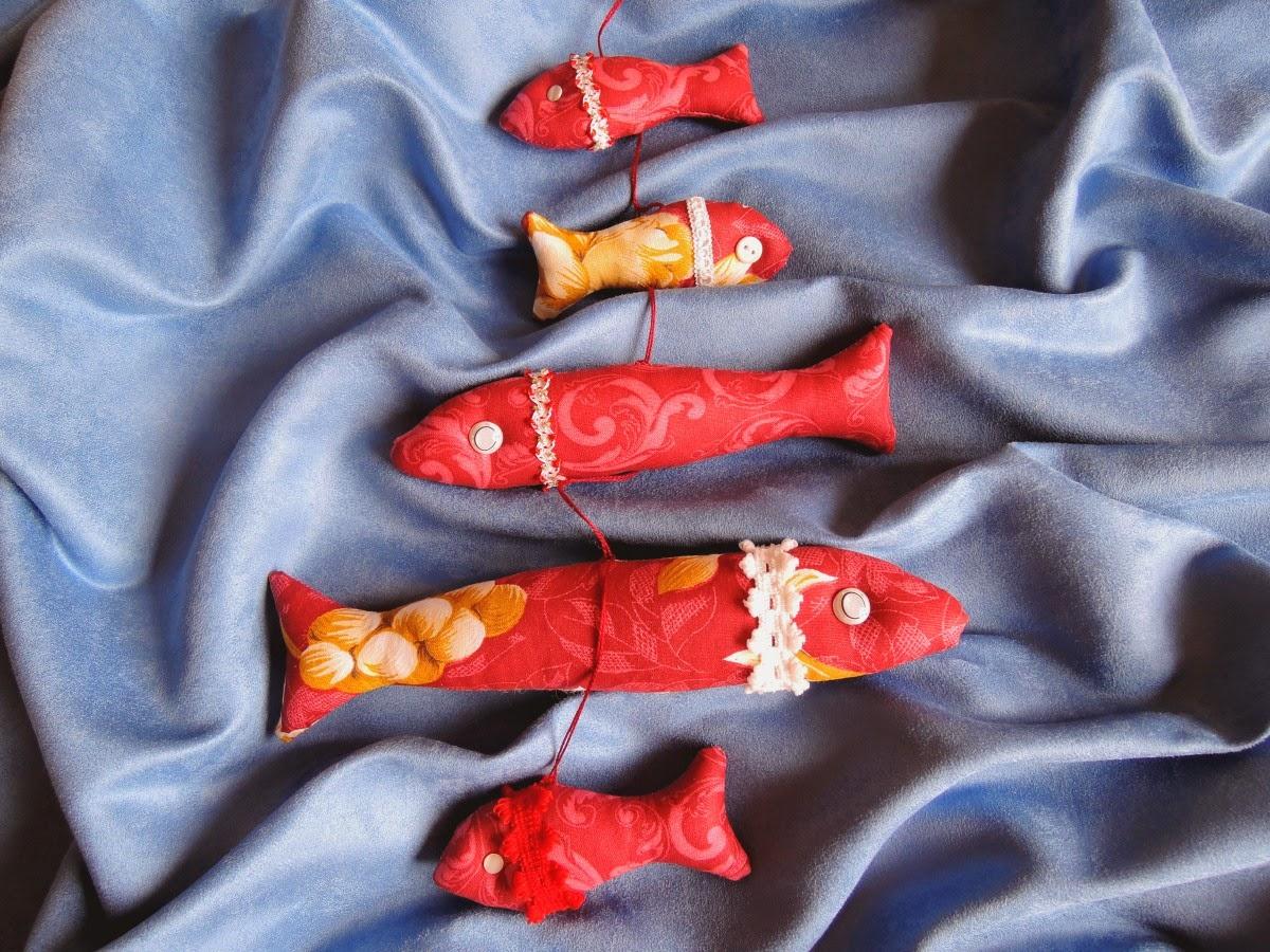 рыбки из ткани