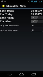 Sehri and Iftar Alarm ( Android Apps )