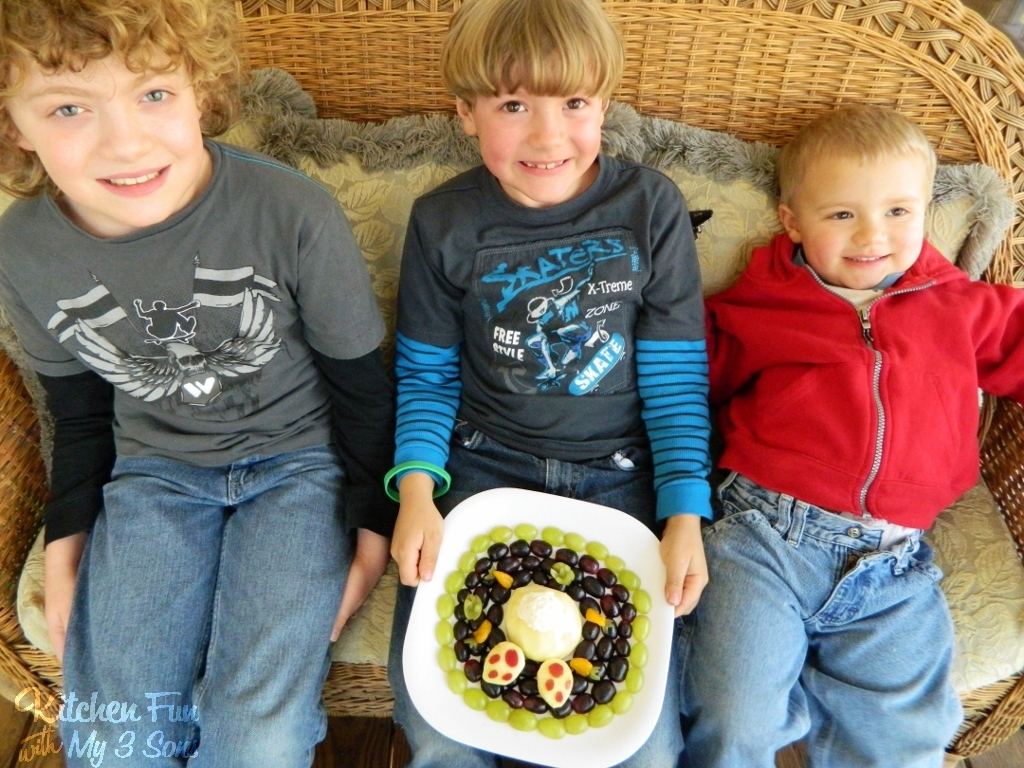 little boys butt Here are my 3 little boys with their fun Easter fruit snack…