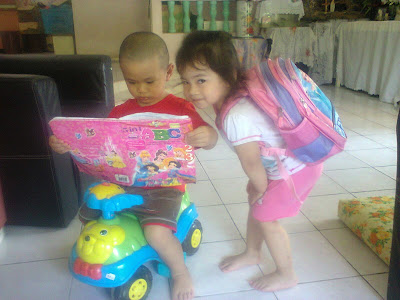 2 years Lil' Iman start reading ..... sungguh #momazing ....