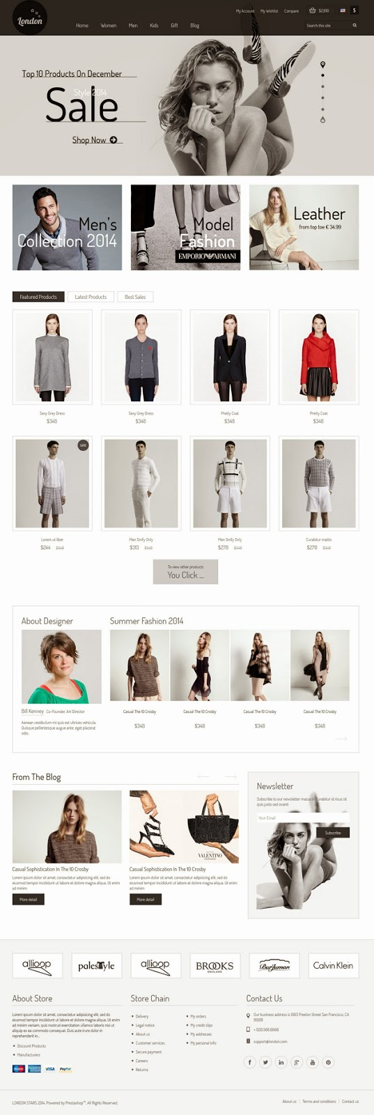 London Stars Responsive eCommerce Theme