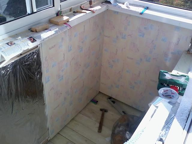 Панели ПВХ отделка балкона