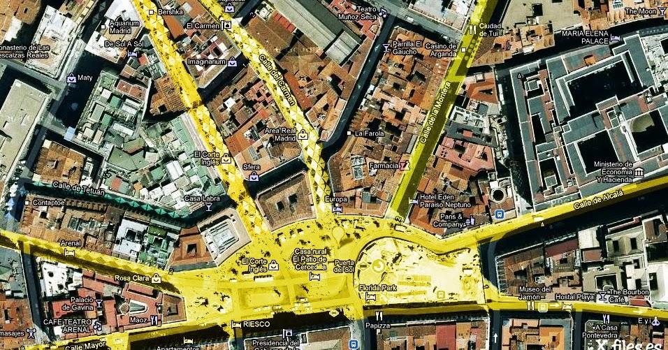 Enigmas y misterios de la tierra for Puerta del sol madrid mapa