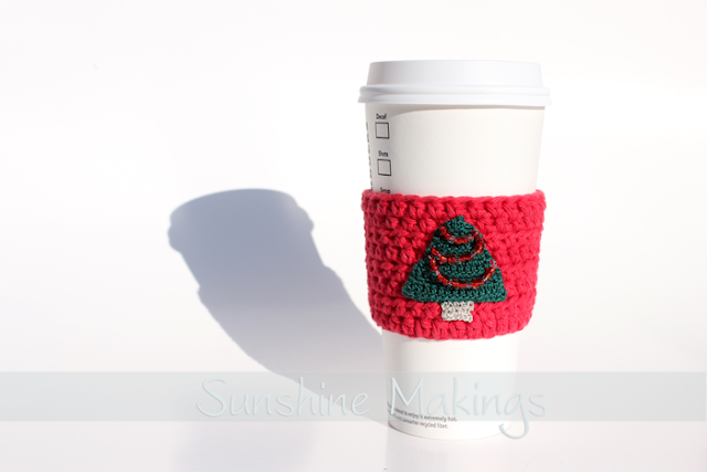 christmas coffee cup sleeve