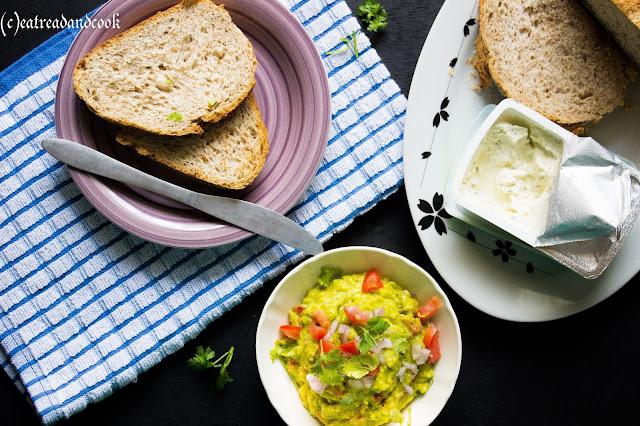 simple avocado spread or dip recipe or guacamole recipe