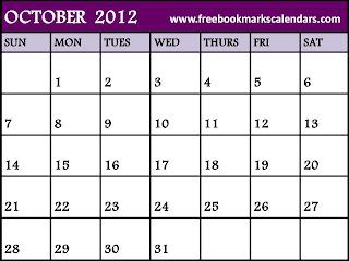 october 2012 free-printable calendar