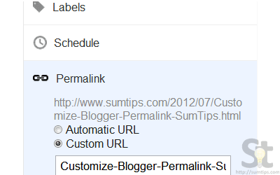 How to Customize Blogger Post Permalink
