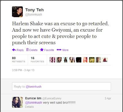 Harlem Shake vs Gwiyomi tweet
