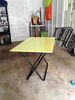 completed work table - garage sale finds - thediybungalow.com
