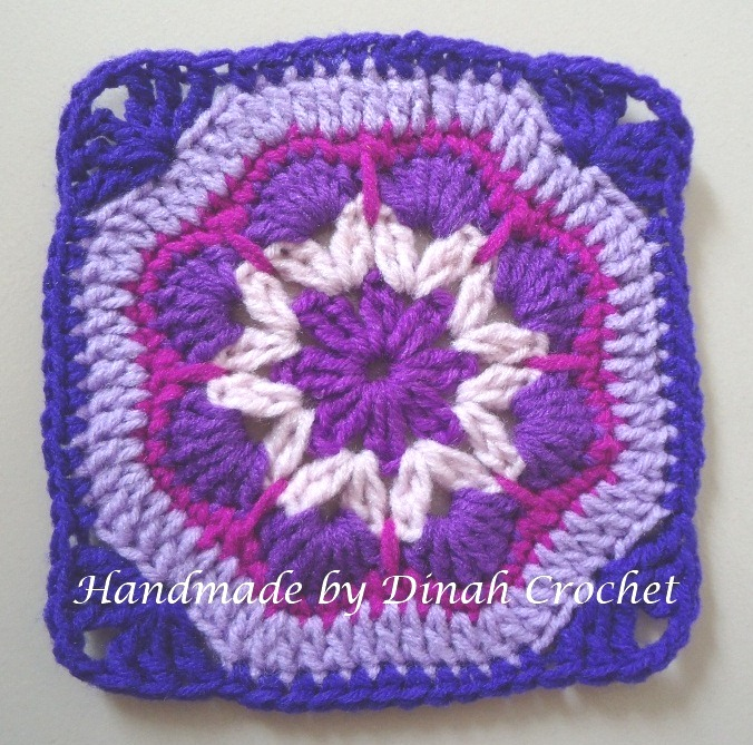 Dinah crochet african flower square ccuart Images