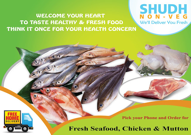 Shudh non veg we deliver you fresh seafood chicken for Fresh fish delivery