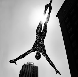 "Boyan Marinov ""Leap"" sculpture in stainless steel"