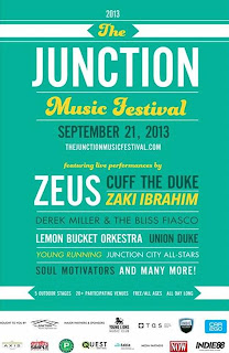 Junction Music Festival  September 21, 2013; Toronto; poster