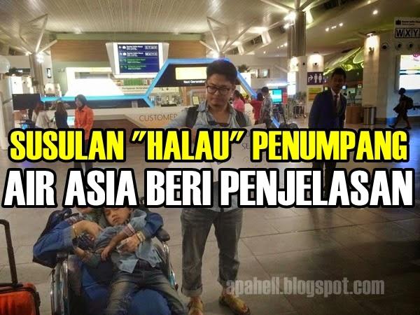 """Air Asia Bersuara Isu """"Halau"""" Penumpang"""