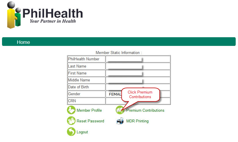 How to check philhealth contributions e pinoyguide copy or print the generated report of your contributions as your file the report also displays your and your employers information your and your yadclub Image collections