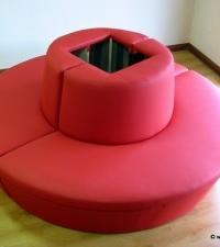 diseño de sofá circular