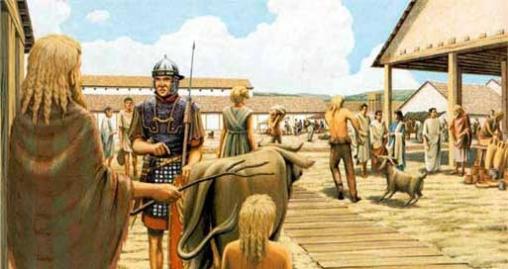 Mercado y antigua Roma