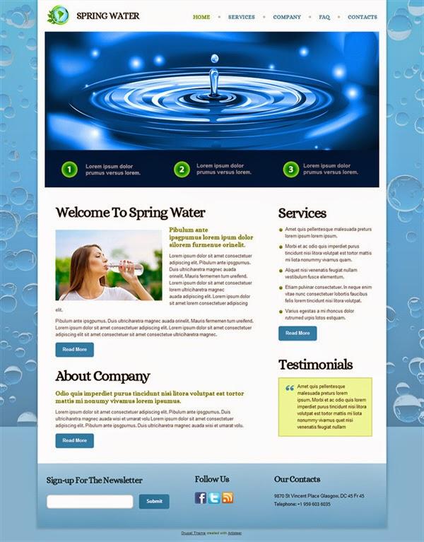 Spring Water - Free Drupal Theme