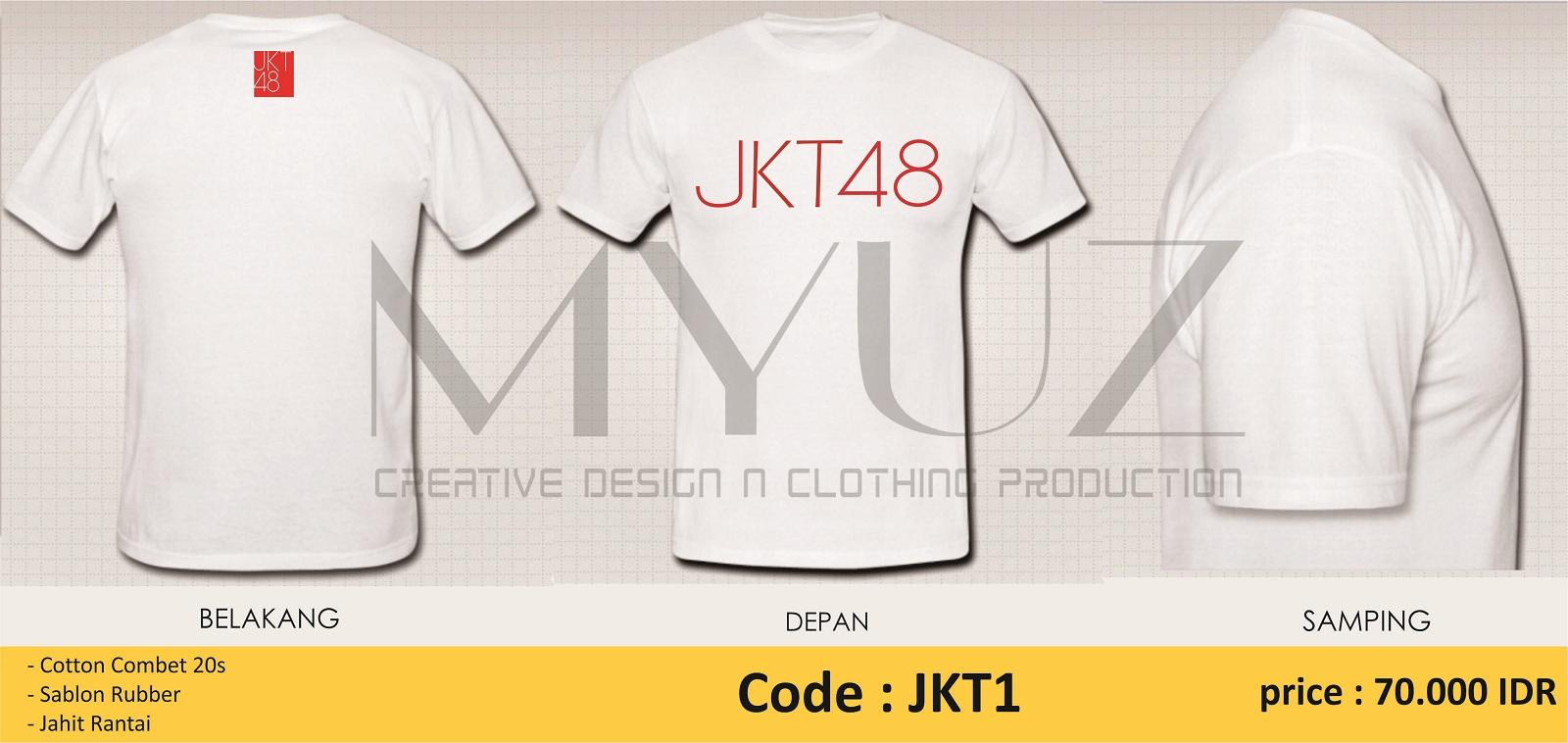 Desain t shirt jkt48 - Desain T Shirt Jkt48 Kaos T Shirt Jkt48