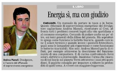 La Nuova Sardegna 18 dicembre 2011