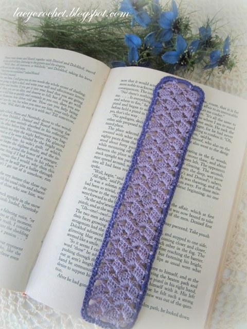 Crochet Bookmarks : Lacy Crochet: Lacy Lilac Bookmark