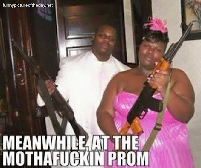 Meanwhile At The Ghetto Prom With Guns