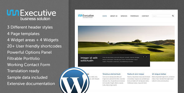 Executive WP - Business WordPress Theme Free Download by ThemeForest.