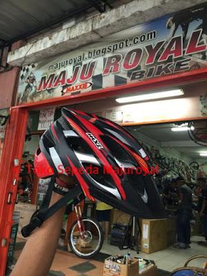 Helm Sepeda MXL mirip Fox Flux MERAHHITAM