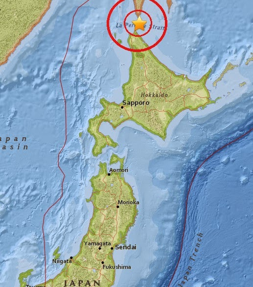Magnitude 5.0 Earthquake of Makubetsu, Japan 2015-04-23