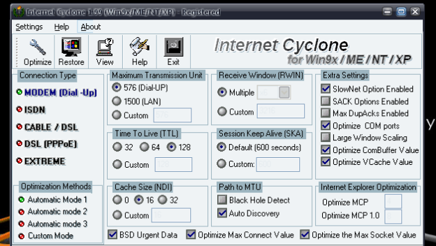 ... Internet Connection Using Internet Cyclone - Increase Internet Speed